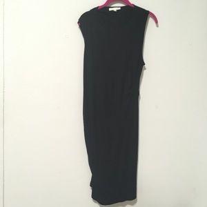 Cushnie et Ochs Black Sheath Midi Crewneck Dress